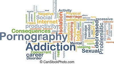 Pornography addiction background concept