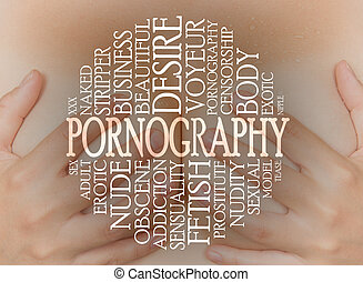 Pornography cloud concept