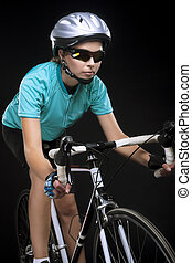 porofessional female bike athlete
