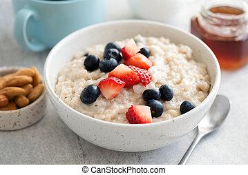 Porridge Bowl With Fresh Summer Berries
