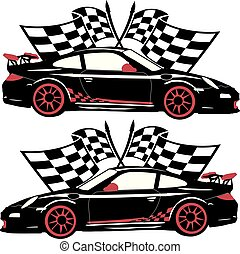 Porsche Classic Race Car.