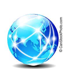 porslin, och, asien, global