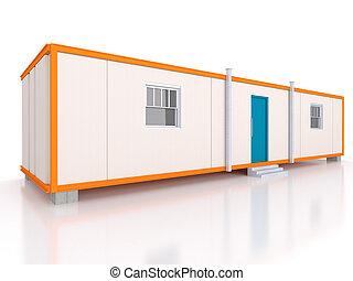 portátil, casa, e, escritório, cabanas