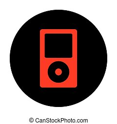 portátil, música, dispositivo