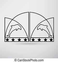 portão, ícone