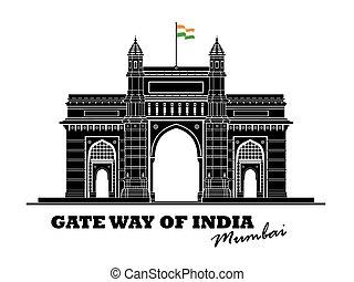portão, índia, maneira