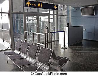 portão, aeroporto