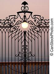 portão, céu