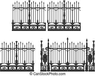 portão, cerca