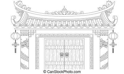 portão chinês
