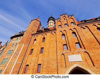 portão, em, gdansk, polônia