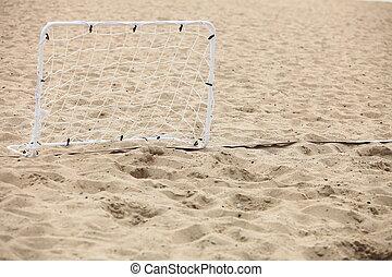 portão, futebol, football praia