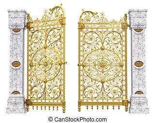 portão, ouro