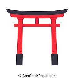 portão, torii, japoneses