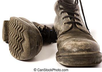 porté, chaussures