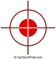 portée, tireur embusqué, ou, vue, cible