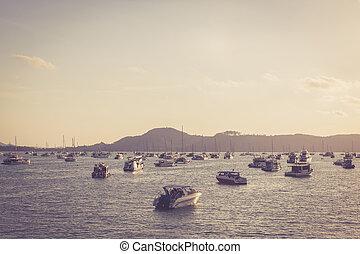 port, accélérez bateau