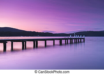 Port Arthur pier and hillside. - Port Arthur pier and ...