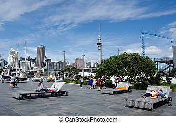 port, bassin, viaduc, auckland