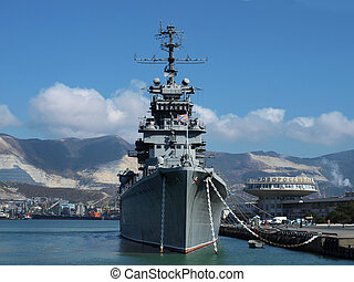 port, bateau, guerre