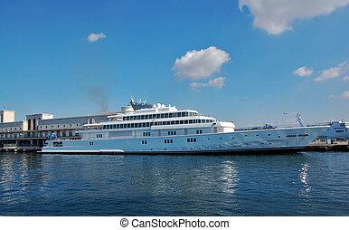 port, bateau, indulgence