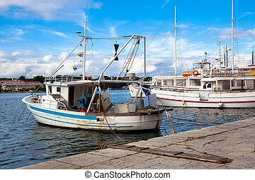 port, bateau pêche
