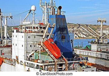 port, bateau, pinnace, peche