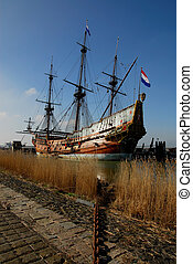 port, bateau, vieux