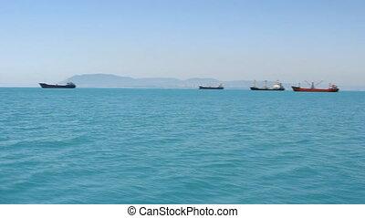 port, bateaux, mer