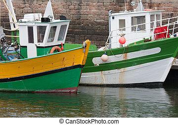 port, bateaux, paimpol, peche, france