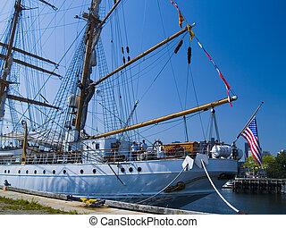 port, boston, bateau