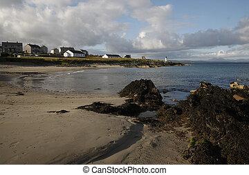 Port Charlotte, Islay, Hebrides, Scotland. Lighthouse at...