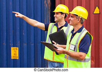 port, compagnie, ouvriers, expédition, fonctionnement
