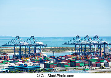 Port container terminal for transporatation