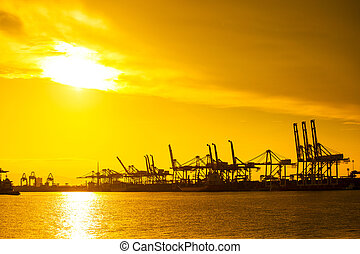 Port container terminal for transportation your product