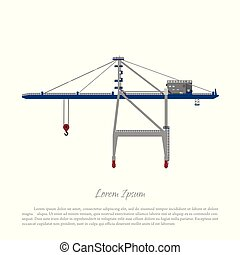Port crane. Cargo lift for loading containers