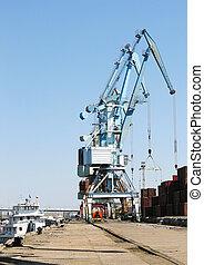 port crane ship