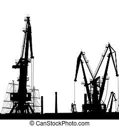 Port Crane Silhouette