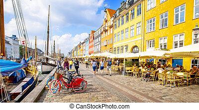 port, danemark, nyhavn, copenhague