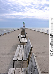 Port Dover Lighthouse - Lighthouse at the end of a deserted ...