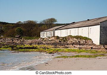 Port Ellen distillery on the isle of Islay