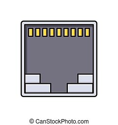 port  flat color icon