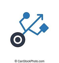 port glyph color icon