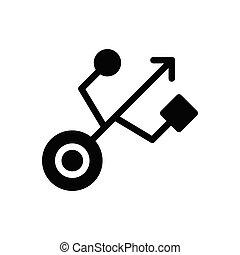 port glyph flat icon