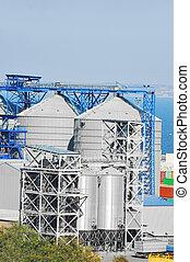Port grain dryer - Grain dryer in the port of Odessa,...