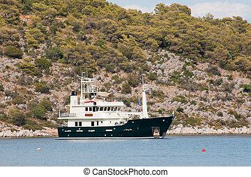 port, grec, bateau