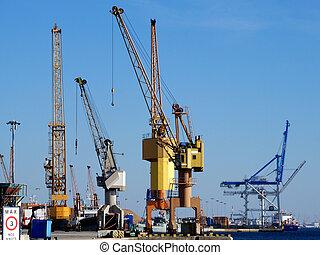 port, grues, 2
