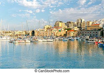 port., heraklion., mer