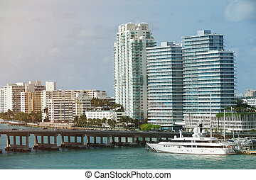 Port in downtown of Miami