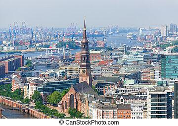Port in Hamburg
